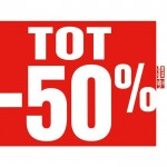 Tot -50% poster rood 60x60cm